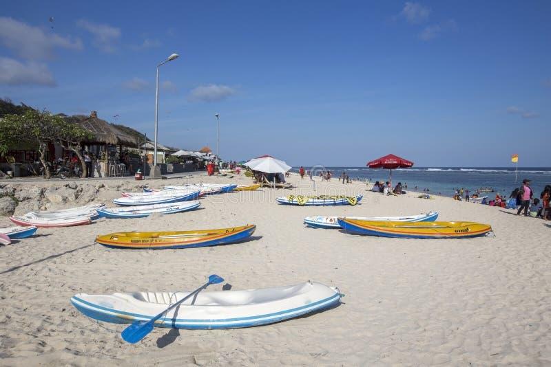 Opinión de Snenic de la playa de Pendawa en Bali fotografía de archivo