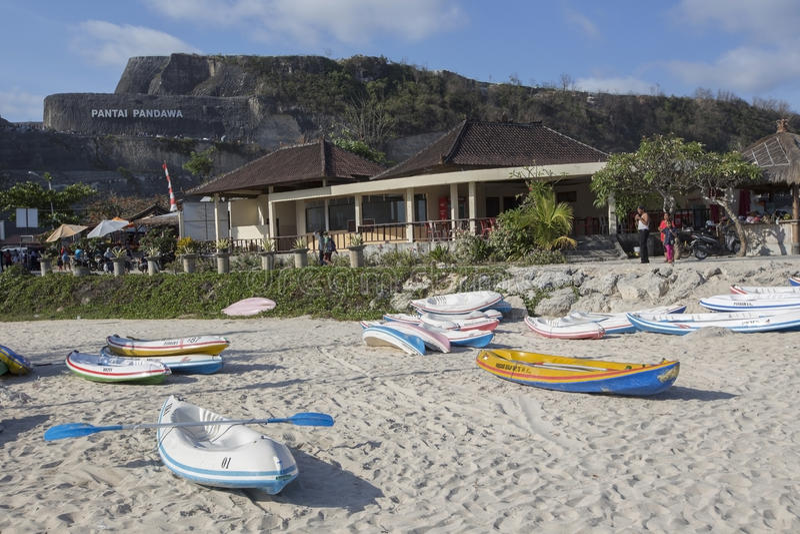 Opinión de Snenic de la playa de Pendawa en Bali fotos de archivo