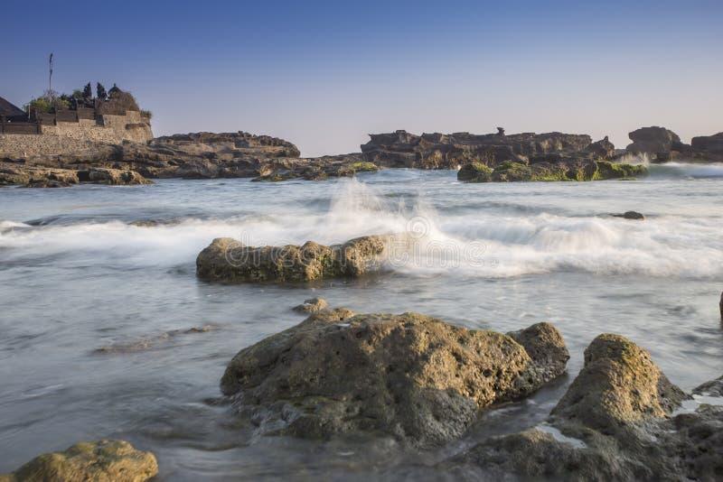 Opinión de Snenic de la playa en Bali imagen de archivo libre de regalías