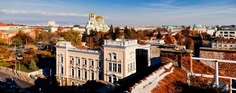 Opinión de Sofía, Bulgaria imagenes de archivo