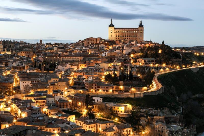 Opinión de Toledo fotos de archivo