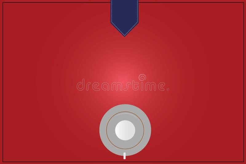 Opinión de top material promocional aislada espacio vacío del platillo de la taza de café de los vales de los carteles de la copi libre illustration