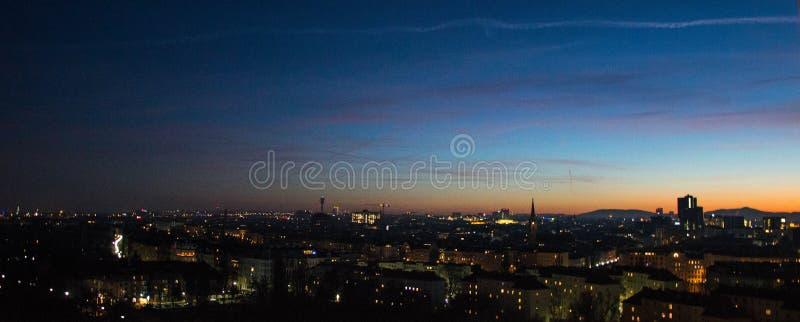 Opinión de Wien de la rueda panorámica imagen de archivo libre de regalías