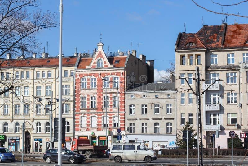 Opinión de WROCLAW, POLONIA de la plaza del mercado en la ciudad vieja de Wroclaw Wroclaw - capital histórica de un Silesia más b fotos de archivo