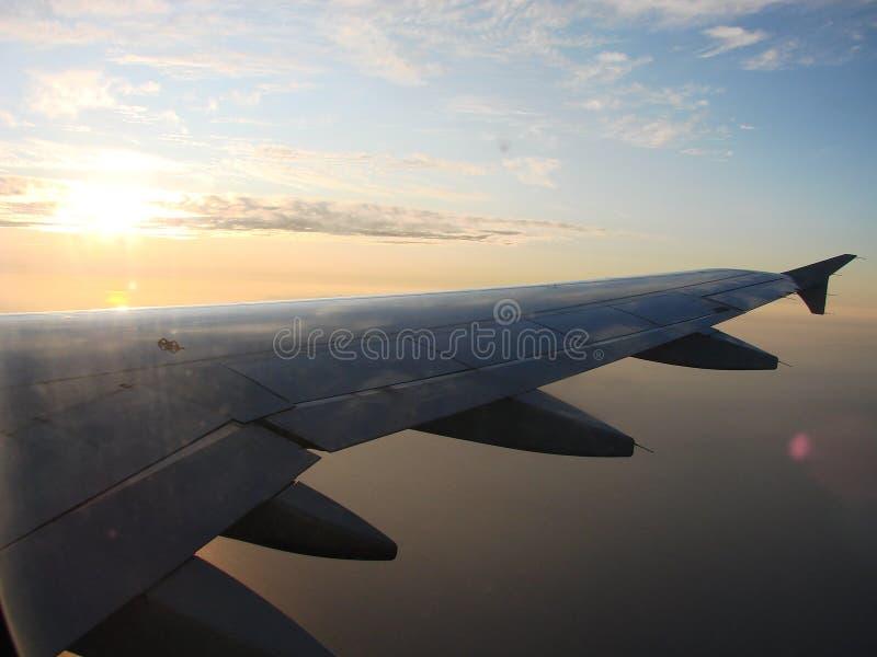 Opinión del aeroplano fotos de archivo