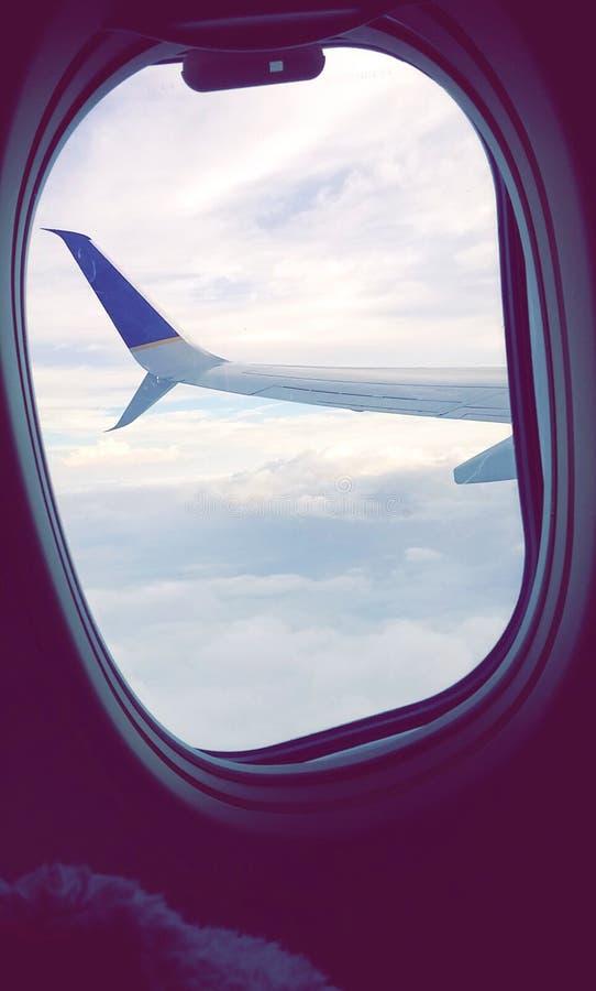 Opinión del aeroplano foto de archivo