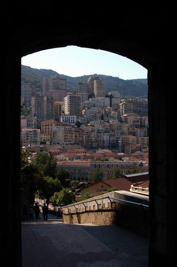 Opinión del arco, Mónaco fotos de archivo libres de regalías