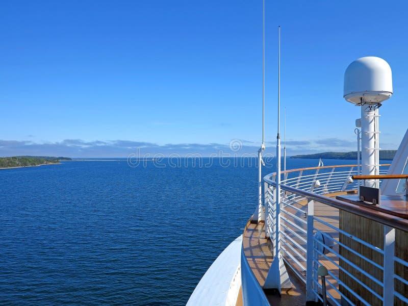 Opinión del barco de cruceros imagen de archivo libre de regalías