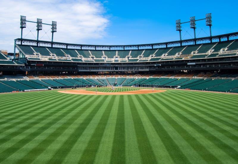 Opinión del campo abierto del estadio de béisbol fotos de archivo