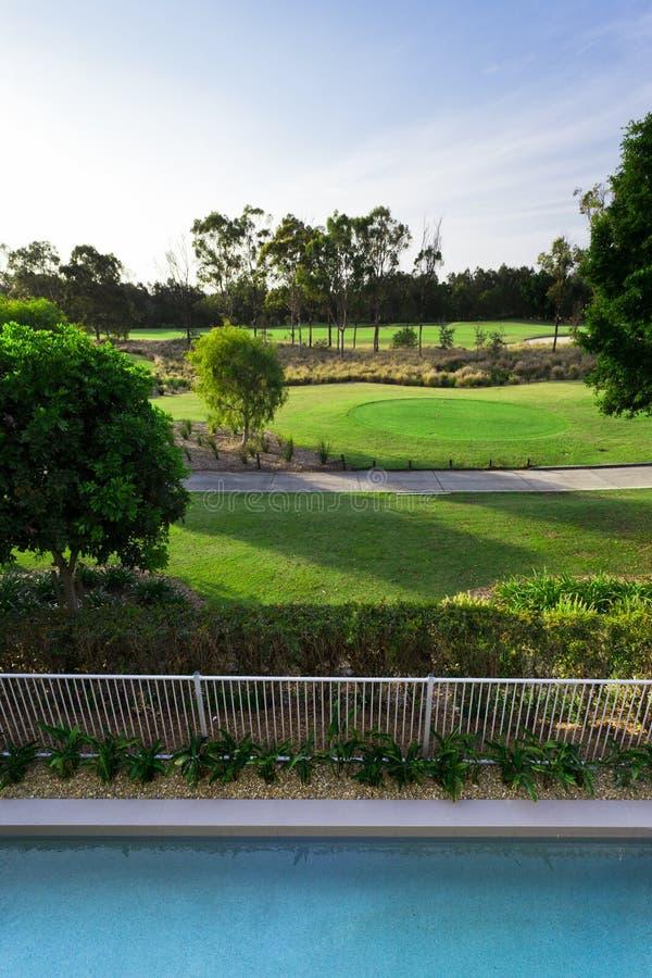 Opinión Del Campo De Golf Del Balcón Imagen de archivo