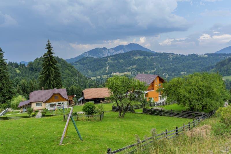 Opinión del campo en Transilvania fotografía de archivo libre de regalías