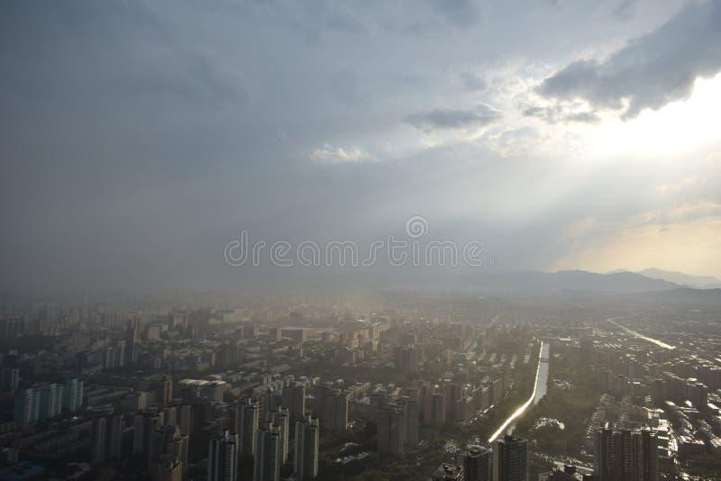 Opinión del canal de televisión de Pekín foto de archivo libre de regalías