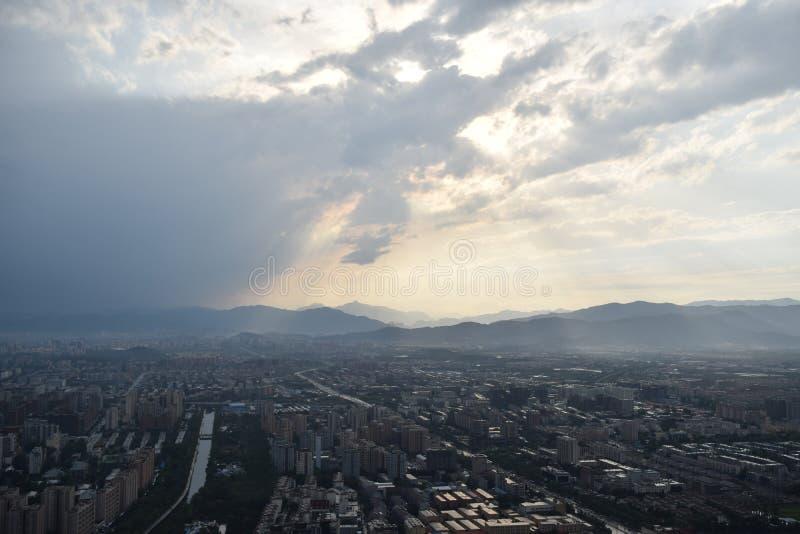 Opinión del canal de televisión de Pekín imágenes de archivo libres de regalías