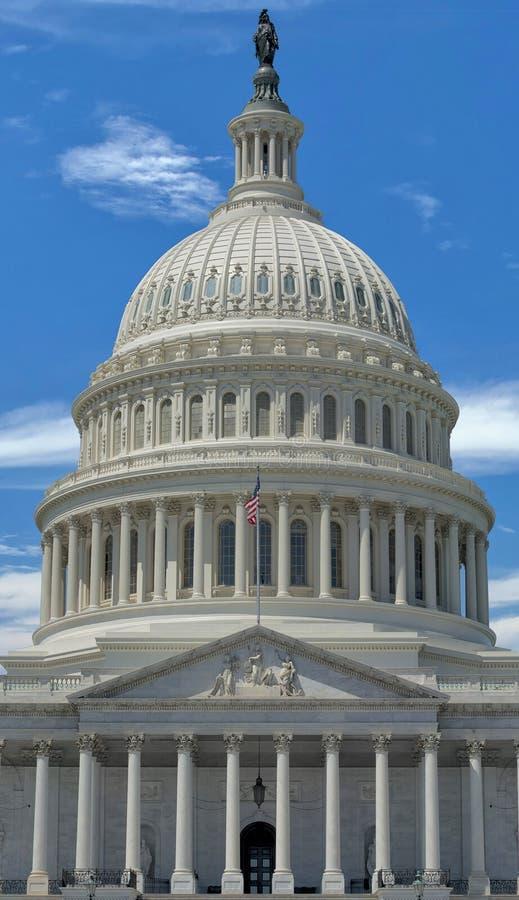 Opinión del capitolio del Washington DC imagen de archivo libre de regalías