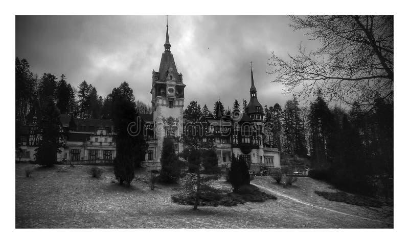 Opinión del castillo de Peles fotos de archivo