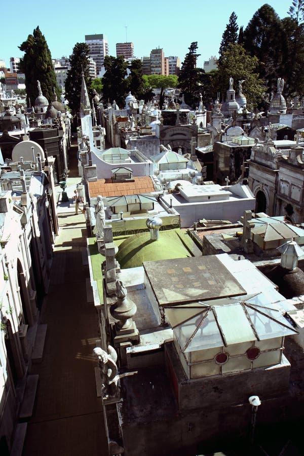 Opinión del cementerio de Buenos Aires foto de archivo