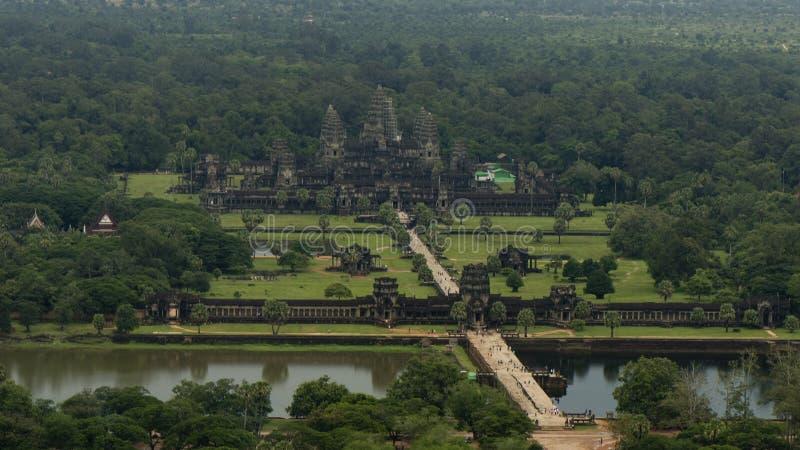 Opinión del cielo de Angkor Wat en Camboya fotos de archivo