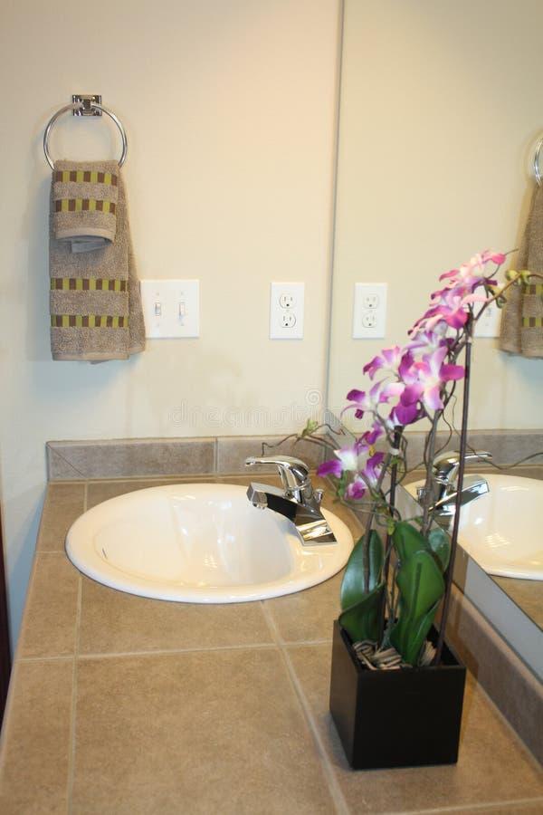 Opinión del cuarto de baño foto de archivo libre de regalías