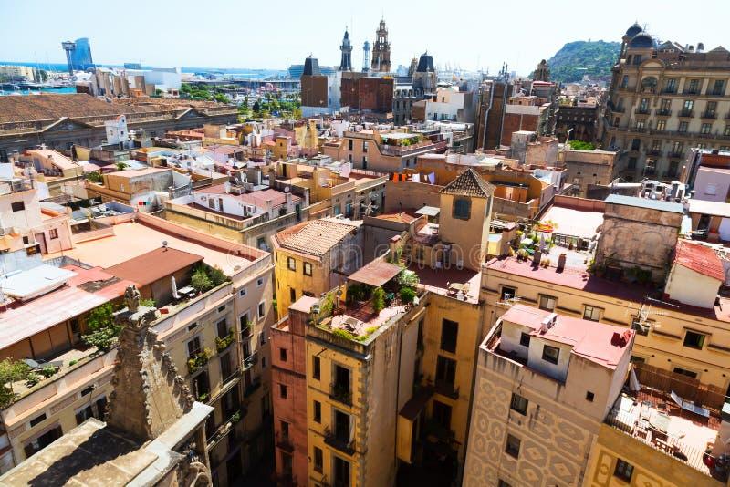 Opinión del día de Barcelona imagen de archivo libre de regalías