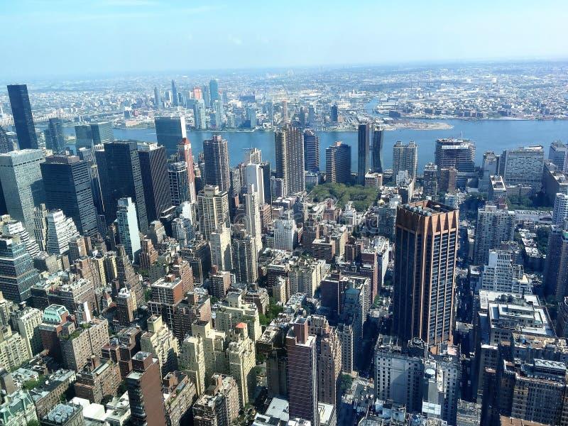 Opinión del día de New York City imagenes de archivo