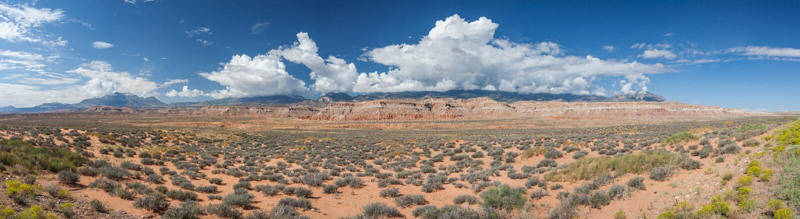 Opinión del desierto de Utah central fotografía de archivo