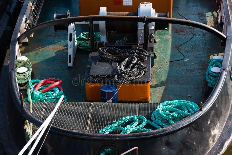Opinión del detalle: Tirón en el puerto de Hamburgo imagen de archivo libre de regalías