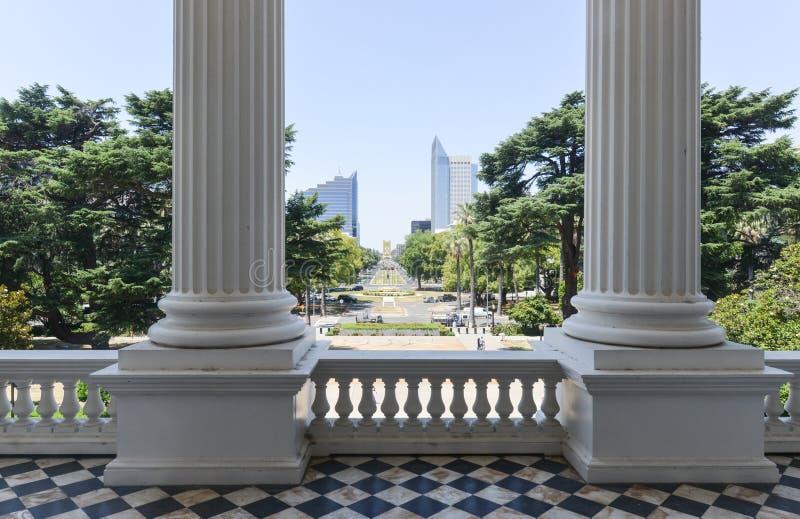 Opinión del edificio del capitolio de California fotos de archivo libres de regalías