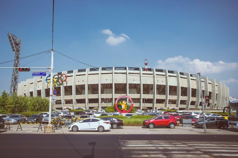 Opinión del estadio Olímpico en Seúl fotografía de archivo