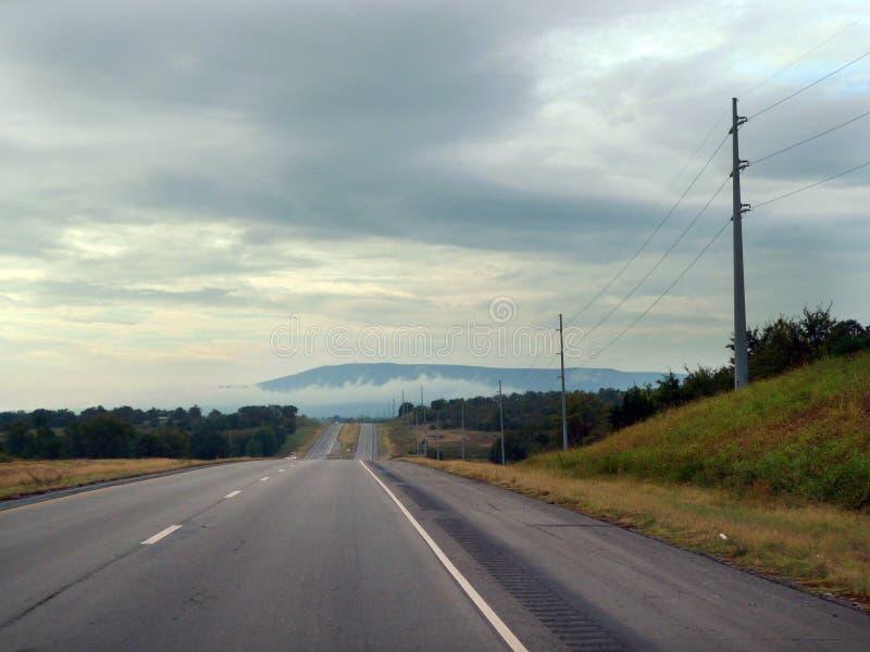 Opinión del este de Oklahoma de la colina de Cavanal, Poteau, AUTORIZACIÓN fotos de archivo