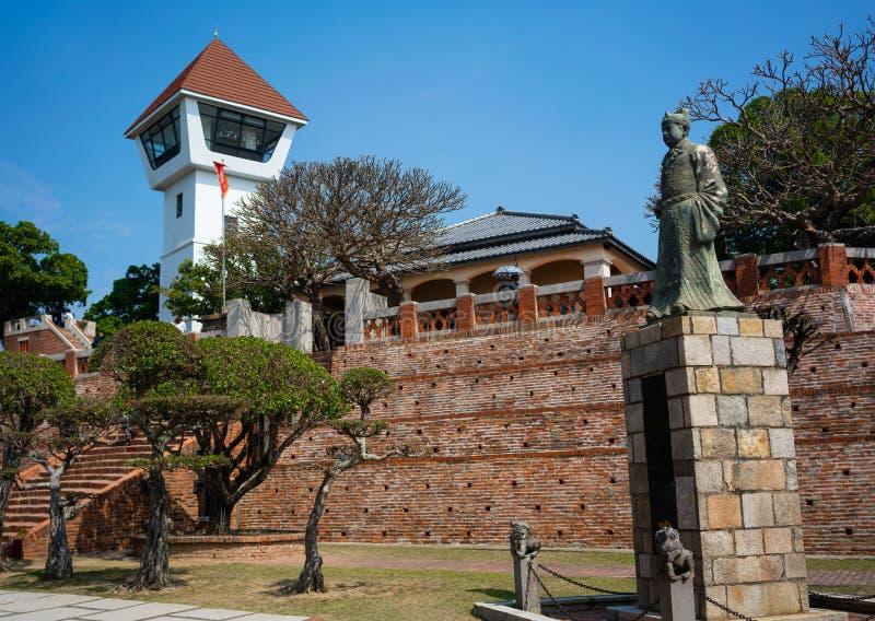 Opinión del fuerte de Anping una estatua holandesa anterior de la ciudadela de Koxinga adentro imágenes de archivo libres de regalías