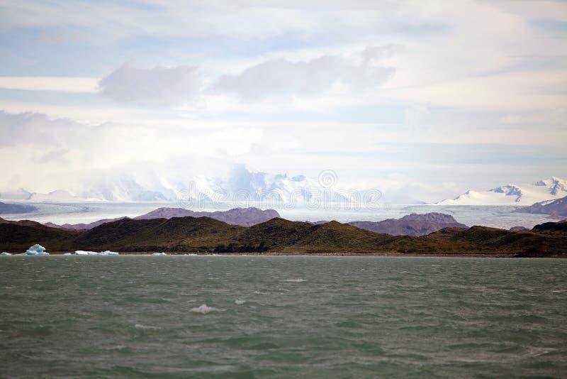 Opinión del glaciar de Onelli del lago Argentino en la Patagonia, la Argentina imágenes de archivo libres de regalías