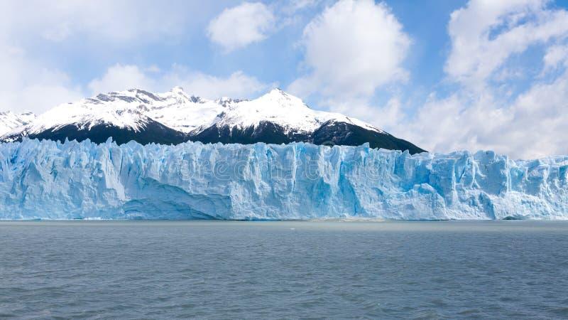 Opinión del glaciar de Perito Moreno, paisaje de la Patagonia, la Argentina foto de archivo libre de regalías