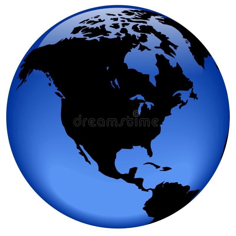 Opinión del globo - Norteamérica stock de ilustración