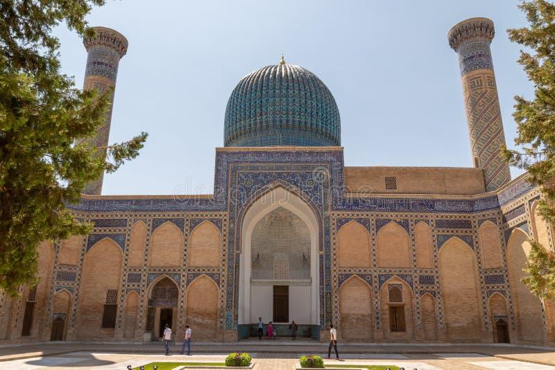 Opinión del Gur-emir del mausoleo de la yarda fotos de archivo