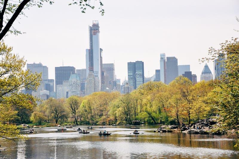 Opinión del horizonte de Manhattan de Central Park fotografía de archivo libre de regalías