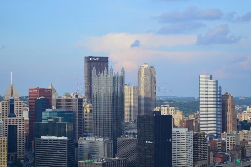 Opinión del horizonte de Pittsburgh de la pendiente de Duquesne fotos de archivo