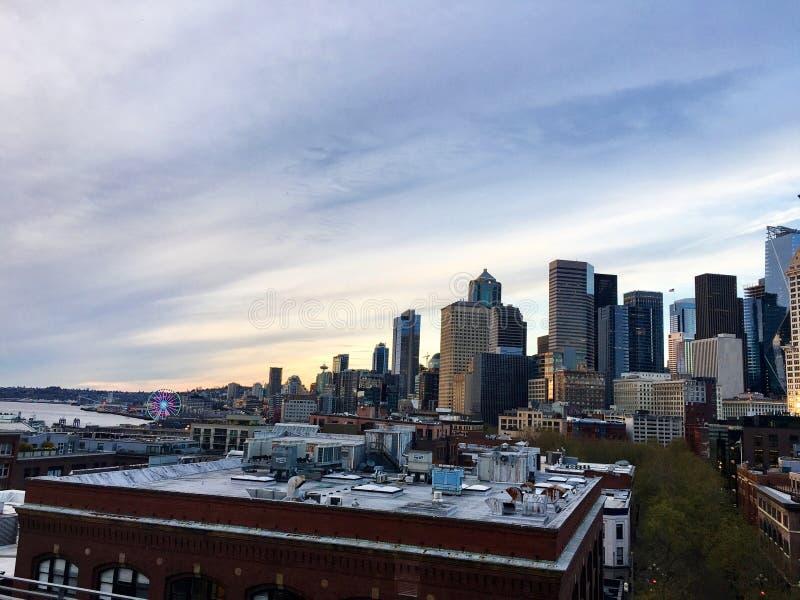 Opinión del horizonte de Seattle, Washington fotografía de archivo