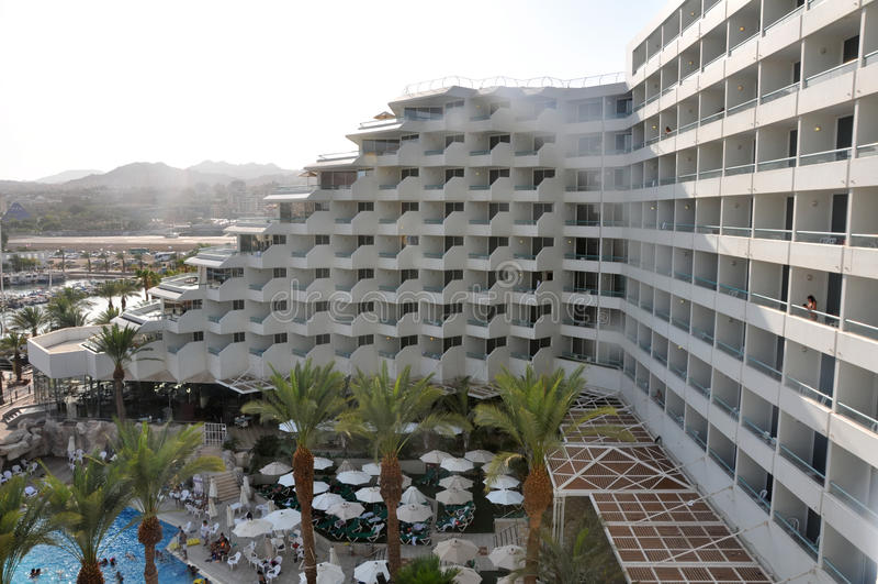 Opinión del hotel de Eilat imágenes de archivo libres de regalías