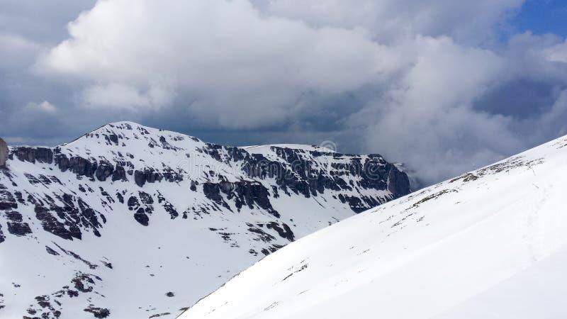 Opinión del invierno de Valea Gaura fotos de archivo libres de regalías