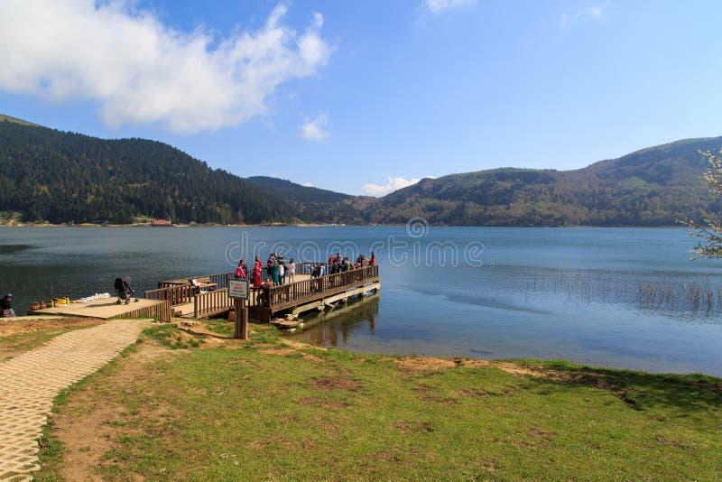 Opinión del lago Abant imagenes de archivo