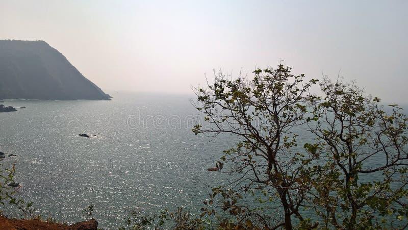 Opinión del mar fotos de archivo