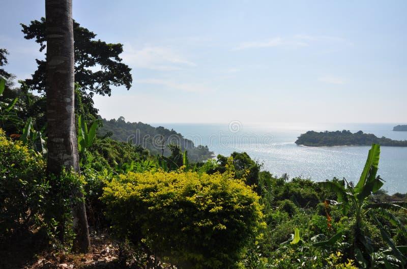 Opinión del mar de Tailandia KOH-Chang foto de archivo