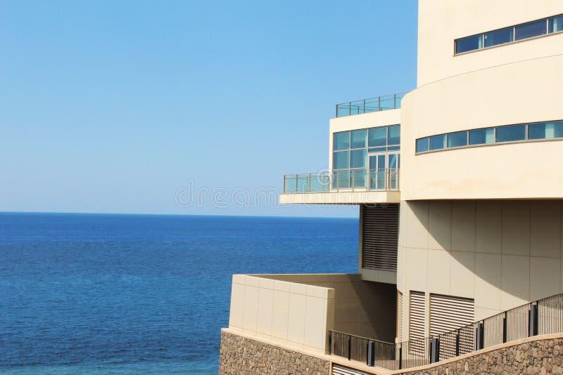 Opinión del mar del apartamento fotografía de archivo libre de regalías