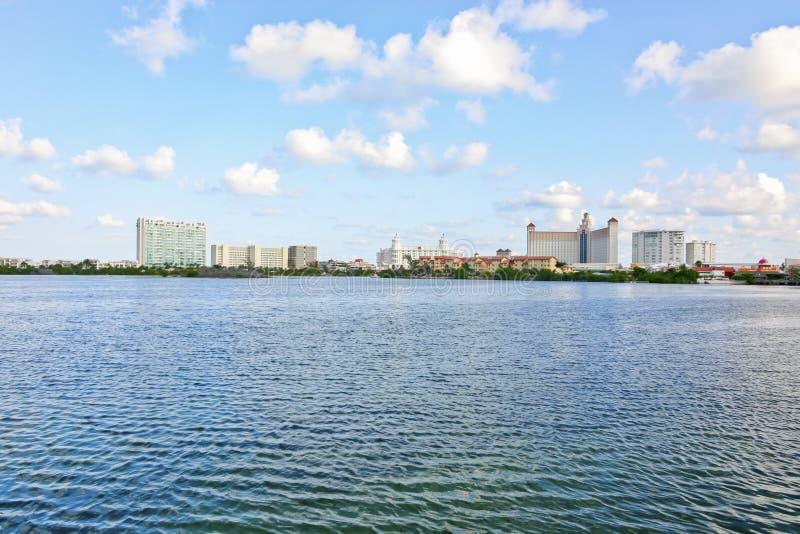 Opinión del mar en Cancun México imagen de archivo libre de regalías