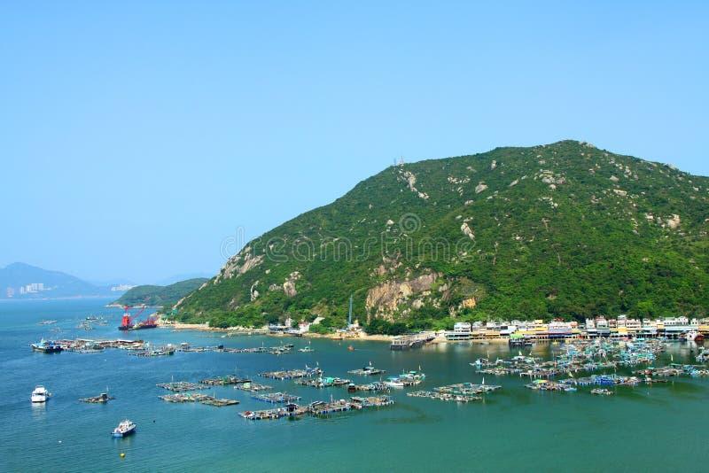 Opinión del mar en Hong-Kong de la tapa de la colina foto de archivo libre de regalías