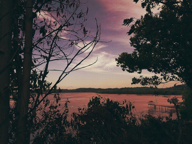Opinión del mar del top de la colina imagen de archivo