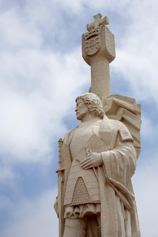 Opinión del media de la estatua de Cabrillo imagenes de archivo