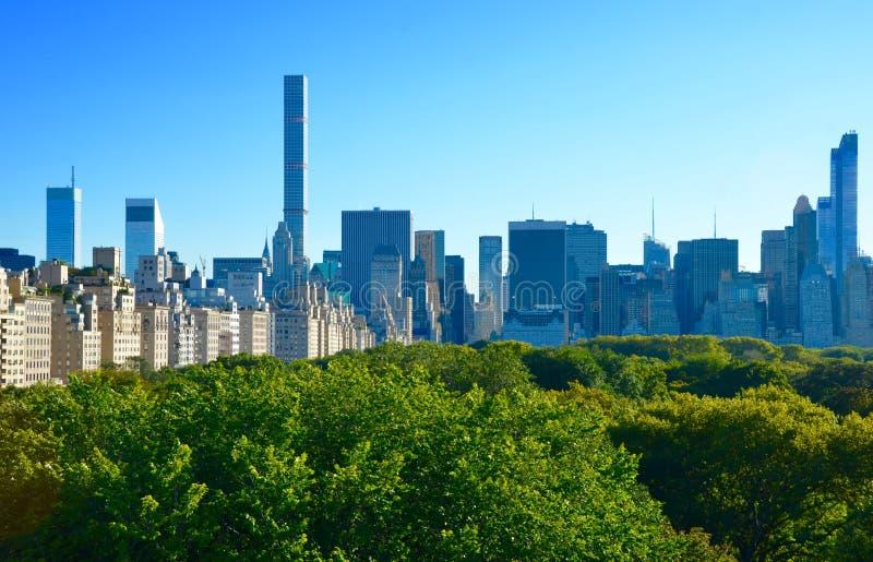 Opinión del Midtown de New York City Manhattan foto de archivo