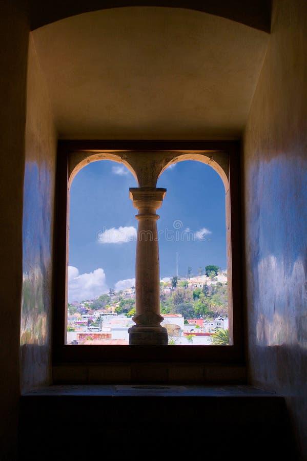 Opinión del monasterio de México Oaxaca Santo Domingo de la ventana con colu fotografía de archivo libre de regalías