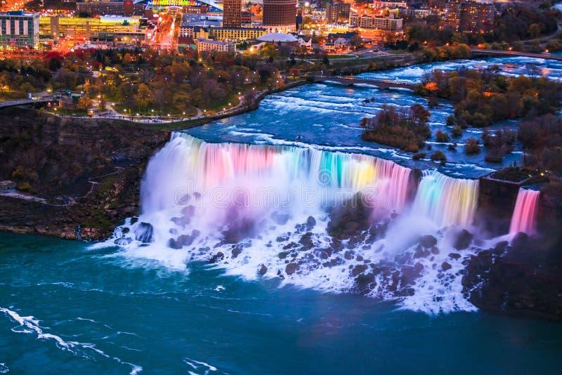 Opinión del pájaro de Niagara Falls fotos de archivo